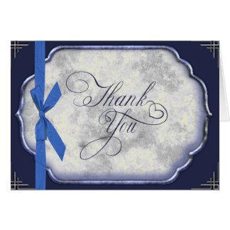 El boda azul de Love Story le agradece Tarjeta Pequeña