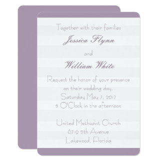 El boda blanco de la raya invita invitación 12,7 x 17,8 cm