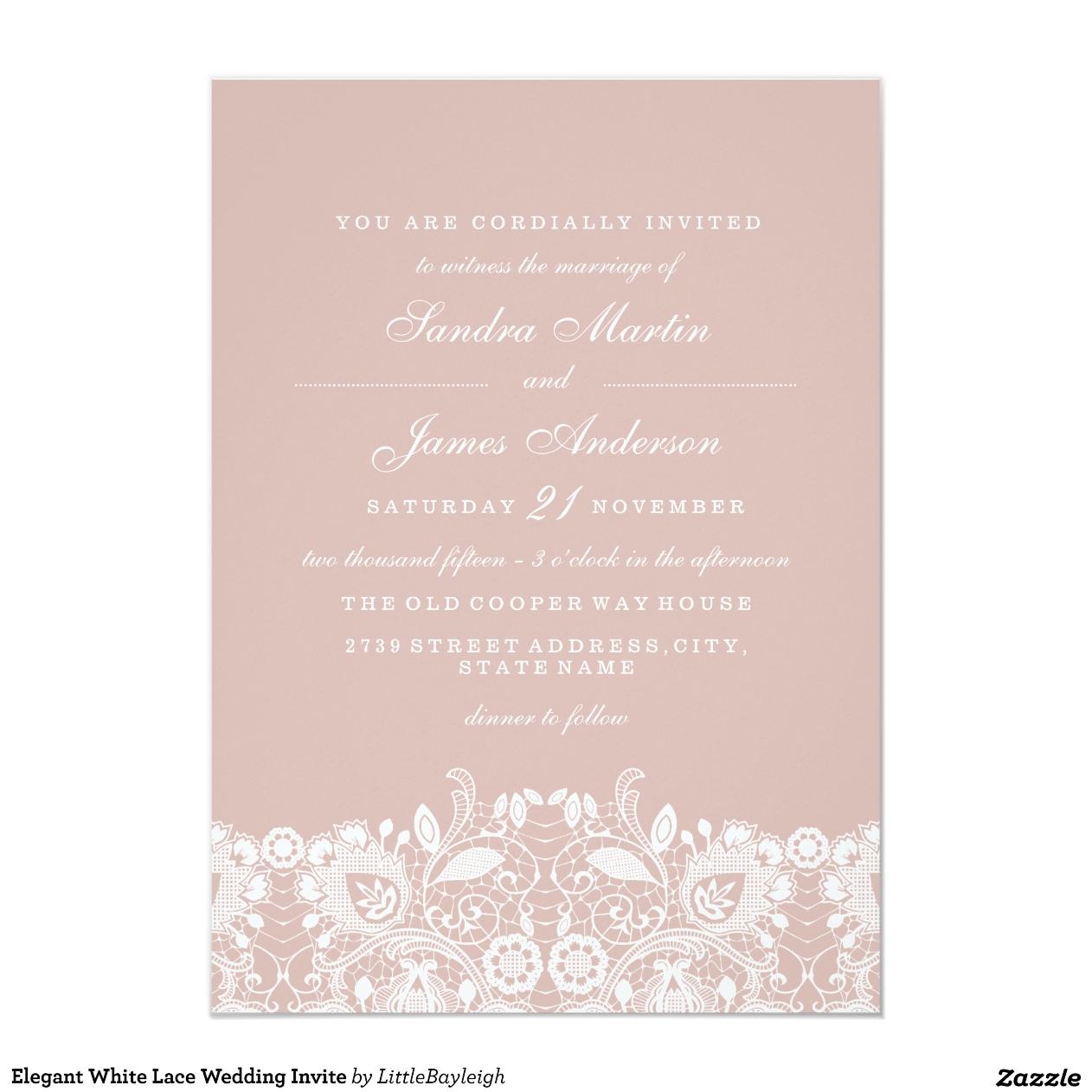 Invita elegantes de la boda