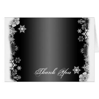 El boda blanco y negro del copo de nieve le tarjeta pequeña