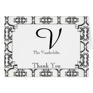 El boda blanco y negro del damasco le agradece