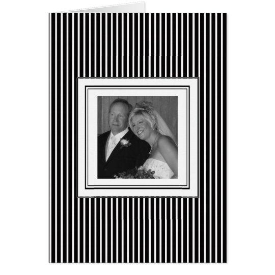 El boda blanco y negro le agradece las tarjetas de