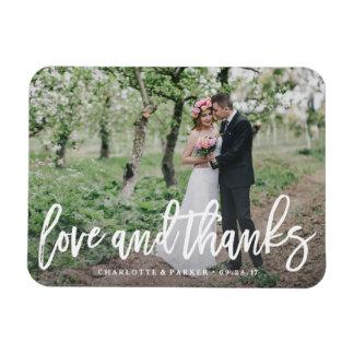 El boda cepillado le agradece imán de la foto