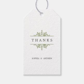 El boda clásico formal elegante del vintage le etiquetas para regalos