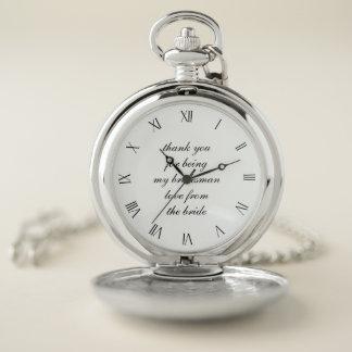 El boda clásico le agradece reloj de bolsillo del