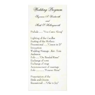 El boda contemporáneo programa amarillo tarjetas publicitarias a todo color