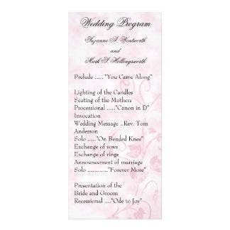 El boda contemporáneo programa rosa lona personalizada