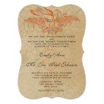 El boda coralino y gris del pájaro del Flourish de Comunicado Personal