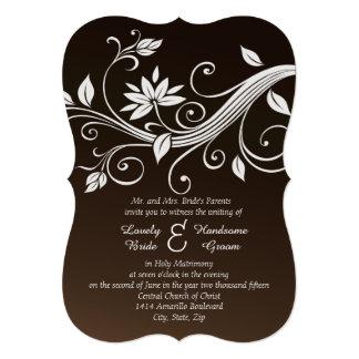 El boda cristiano marrón banal invita invitación 12,7 x 17,8 cm