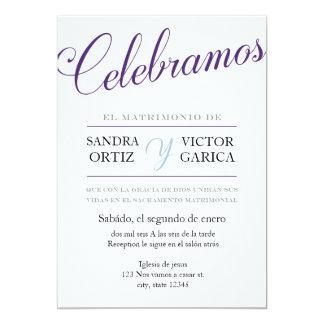 El boda de Celebramos invita Invitación 12,7 X 17,8 Cm
