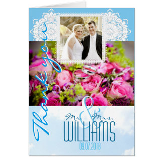 El boda de encargo de la foto le agradece cardar tarjeta de felicitación