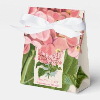 El boda de encargo de los Hydrangeas rosados Caja De Regalos