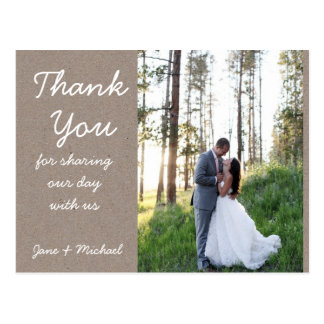 El boda de Kraft le agradece postal