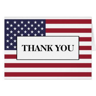 El boda de la bandera americana le agradece tarjeta de felicitación