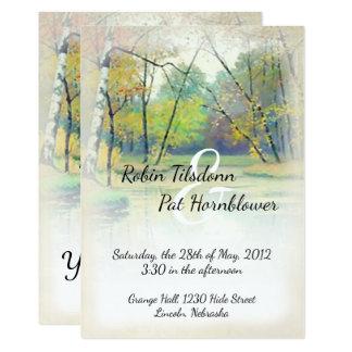El boda de la corriente del país del otoño invita invitación 12,7 x 17,8 cm