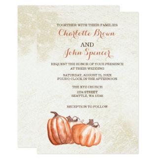 el boda de la cosecha de la caída de las calabazas invitación 12,7 x 17,8 cm