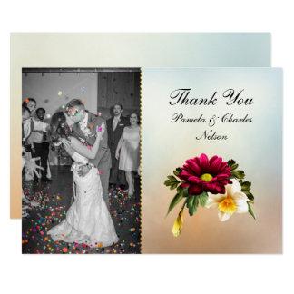 El boda de la foto de las floraciones de la invitación 12,7 x 17,8 cm