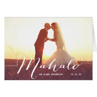 El boda de la foto de Mahalo le agradece tarjeta