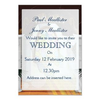 El boda de la iglesia invita invitación 8,9 x 12,7 cm