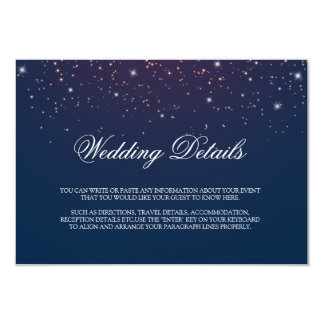 El boda de la noche estrellada detalla la tarjeta