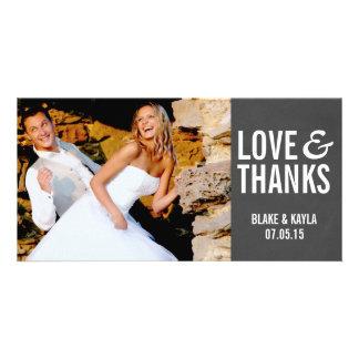 El boda de la pizarra de la MOD le agradece Tarjeta