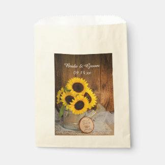 El boda de la regadera del jardín de los girasoles bolsa de papel
