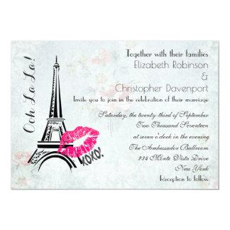 El boda de la torre Eiffel de París del La del La Invitación 12,7 X 17,8 Cm