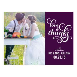 El boda de lujo de la escritura le agradece postal