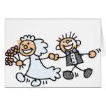 El boda de novia y del novio Elope fuga Tarjeta