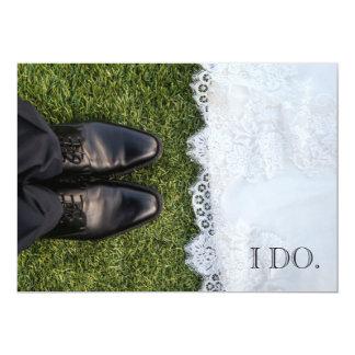 El boda de novia y del novio invita invitación 12,7 x 17,8 cm