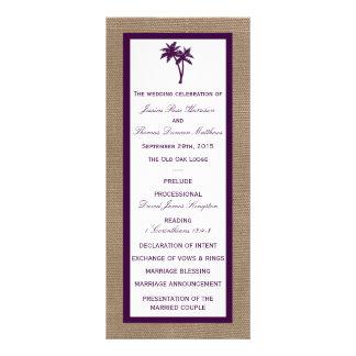El boda de playa de la arpillera de la palmera el lonas