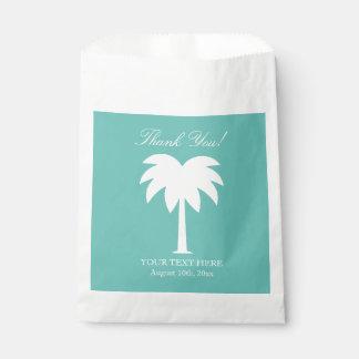 El boda de playa de la palmera le agradece los bolsa de papel