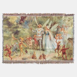 El boda de Thumbelina en el bosque Manta