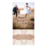 El boda del cordón de la impresión de la arpillera tarjetas fotograficas