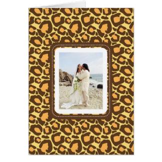 El boda del estampado de animales le agradece las tarjeta pequeña