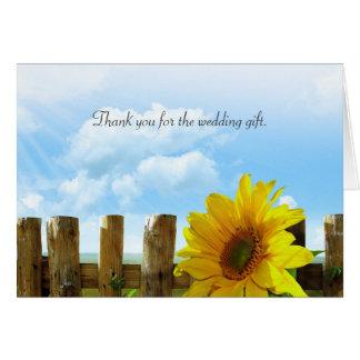 El boda del girasol le agradece tarjeta de nota de
