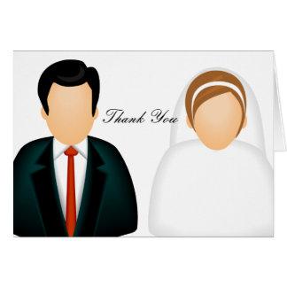 El boda del icono le agradece tarjeta