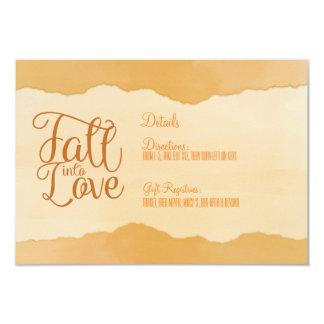El boda del otoño de la caída detalla la tarjeta invitación 8,9 x 12,7 cm