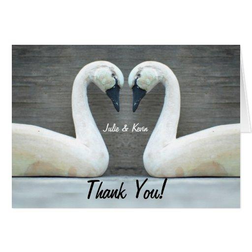 El boda del país del cisne agradece Yous Tarjeta De Felicitación