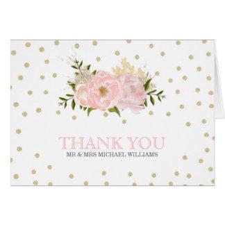 El boda del Peony del brillo le agradece las Tarjeta De Felicitación
