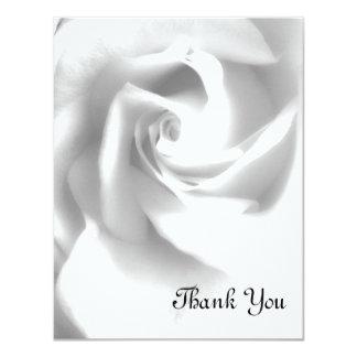 El boda del rosa negro y blanco le agradece las invitación 10,8 x 13,9 cm