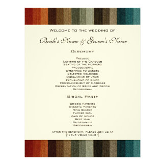 El boda del vintage, otoño caliente raya el modelo flyer
