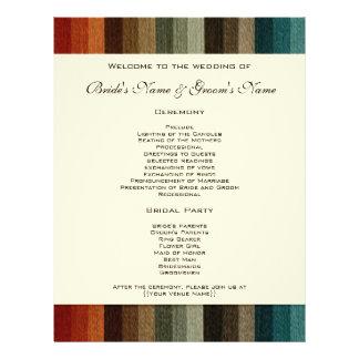 El boda del vintage, otoño caliente raya el modelo folleto 21,6 x 28 cm