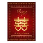 El boda doble chino de la felicidad invita