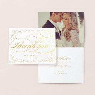 El boda elegante clásico del marco de los puntos tarjeta con relieve metalizado