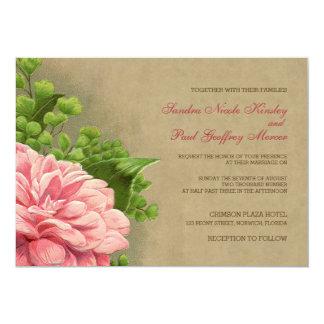 El boda elegante con clase del Peony floral del Invitación 12,7 X 17,8 Cm