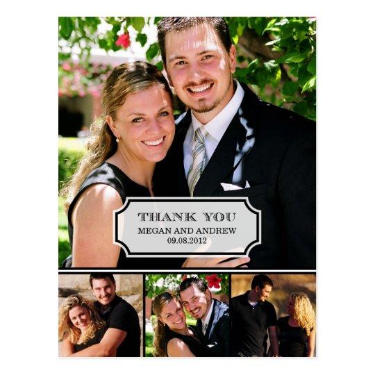 El boda elegante de la etiqueta le agradece cardar postal