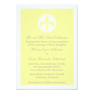El boda elegante de la flor de lis invita, invitación 12,7 x 17,8 cm