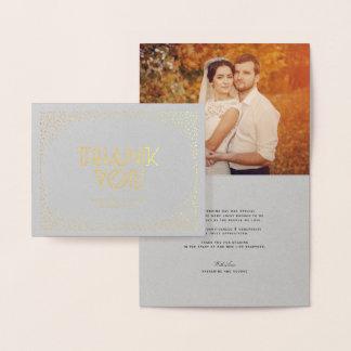 El boda elegante del art déco del marco del tarjeta con relieve metalizado