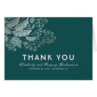 El boda elegante del follaje del trullo le tarjeta pequeña